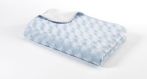 BabyDan Double Fleece antiallergén takaró 75x100 light blue