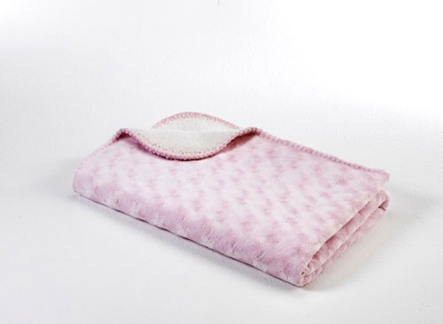 BabyDan Double Fleece antiallergén takaró 75x100 pink