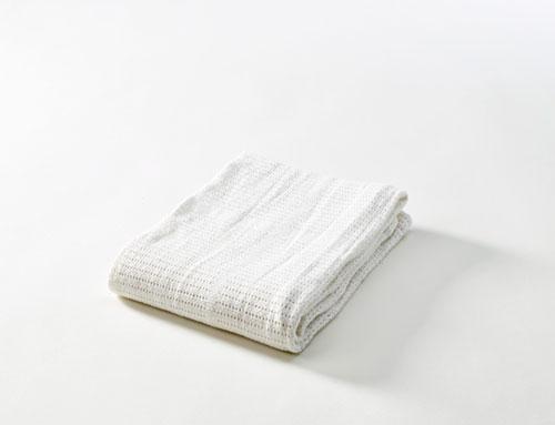 BabyDan Horgolt pamut takaró fehér