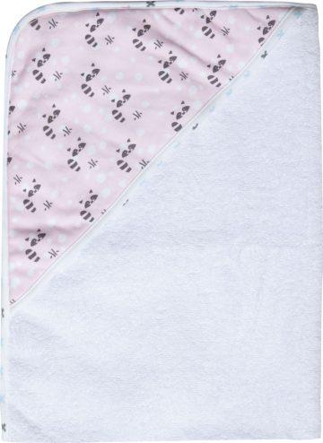 LUMA Törölköző kapucnival Racoon Pink 85x75 cm