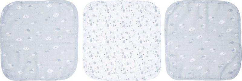 Luma Bambusz muszlin fürdető kendő arcra Lovely Sky 3 db