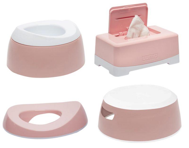 LUMA Toalett tréning szett Cloud Pink