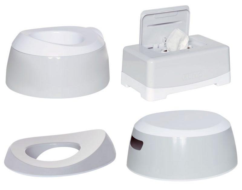 LUMA Toalett tréning szett Light Grey