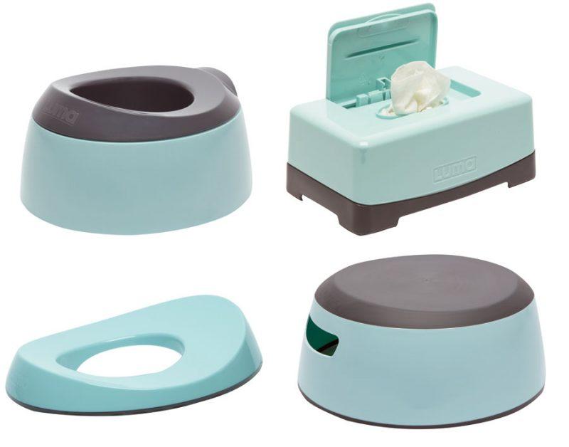 LUMA Toalett tréning szett Silt Green