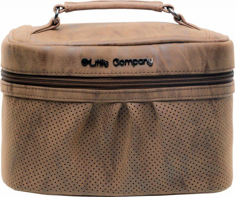 Kozmetikai táska Little Company Beautycase Emily cognac
