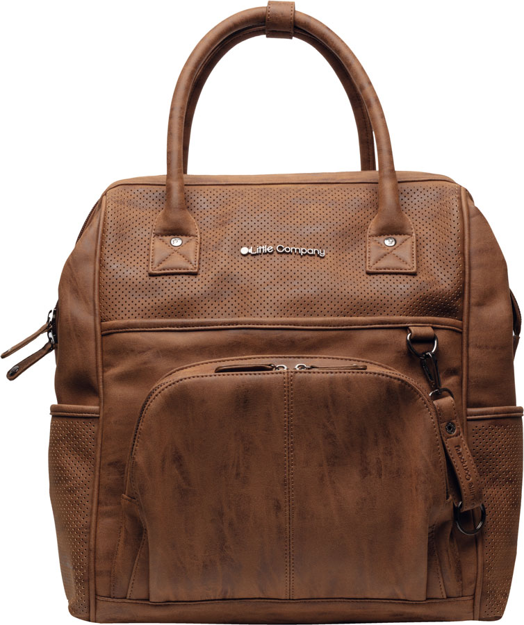 Pelenkázó hátizsák Riga Perfo cognac