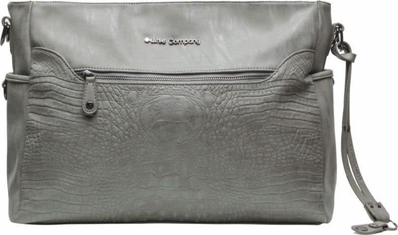 Pelenkázó táska Copenhagen Croco Grey krokodíl minta
