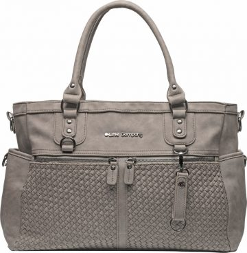 Pelenkázó táska Monaco Braided taupe szürkés-barna