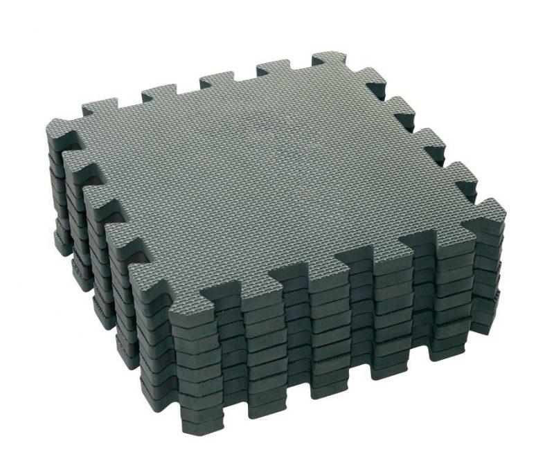Baby Dan Puzzle habszivacs játszószőnyeg Dusty Grey 90x90 cm