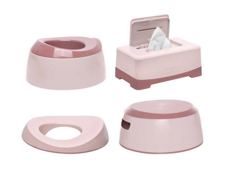 LUMA Toalett tréning szett Blossom Pink