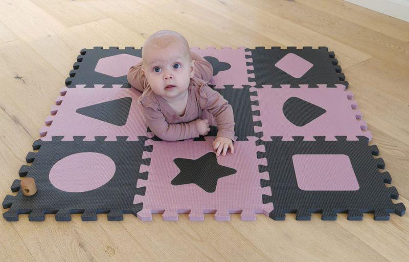 Puzzle habszivacs játszószőnyeg Geometriai formák